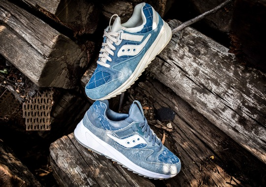 "Saucony Dresses The Grid 8500 MD In Denim With The ""Boro"" Pack"