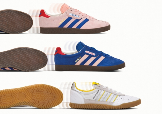 "size? and adidas Originals Releasing ""London to Manchester"" Pack Inspired By Transit To Football Matches"