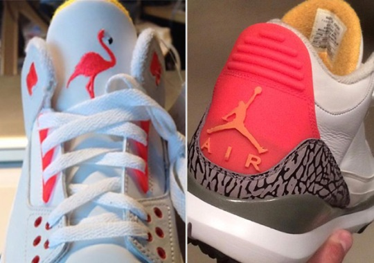 """SoleFly Reveals Air Jordan 3 """"Lotto"""" Golf Shoes And Samples"""