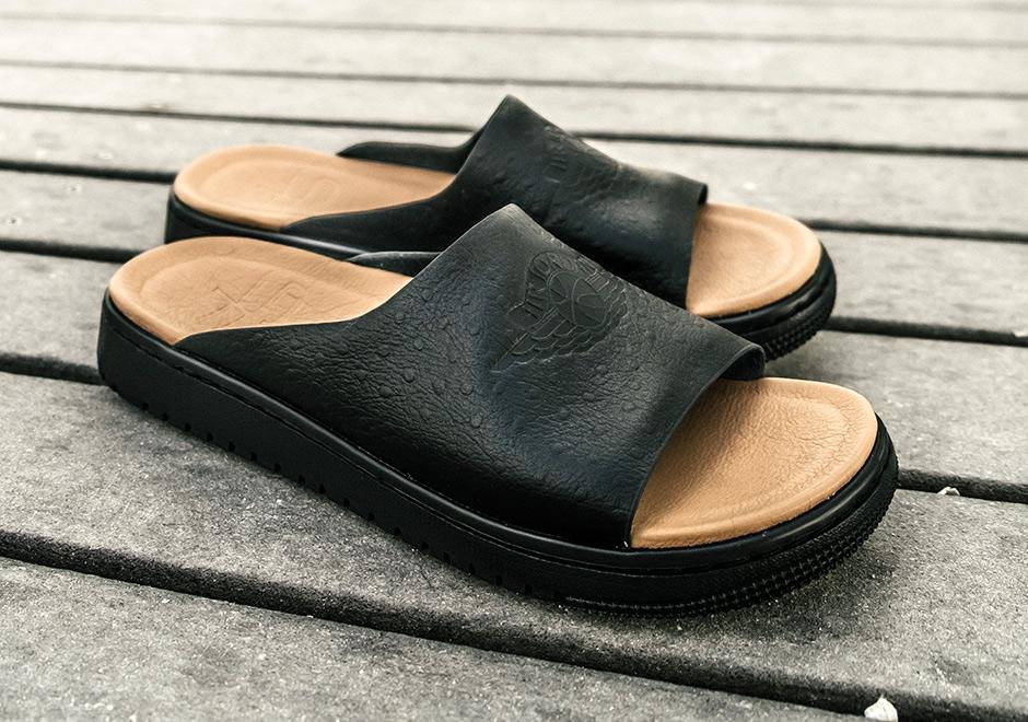 db64b298e875f5 SoleFly Creates Luxurious Jordan Slides With Air Jordan 1 Soles