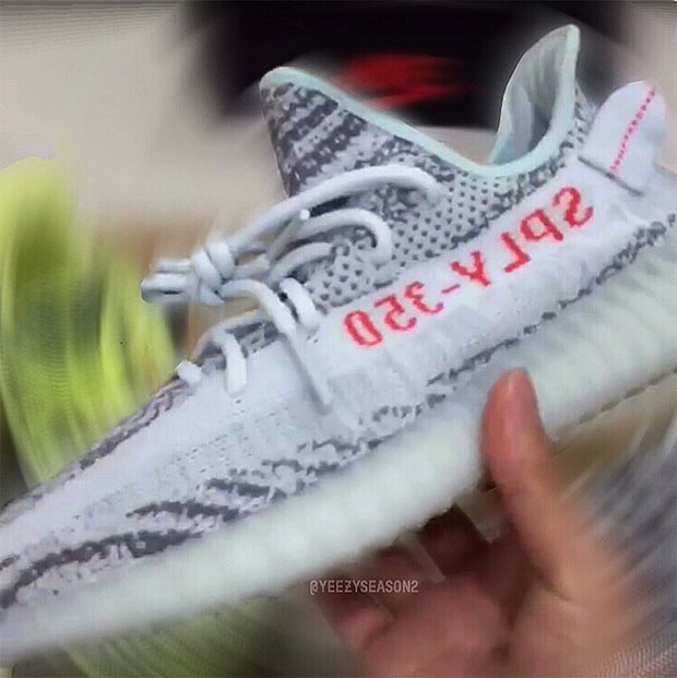 new style 4f403 10f90 Yeezy Boost 350 v2 Frozen Yellow Blue Tint B37571 B37572 ...
