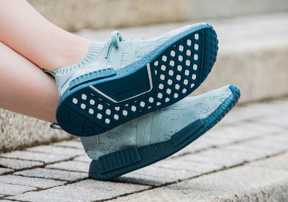 "the best attitude d840e cef3d adidas NMD R1 Primeknit ""Tactile Green"" Release Date  September 8th, 2017   170. Color  Tactile Green Blue Petrol"