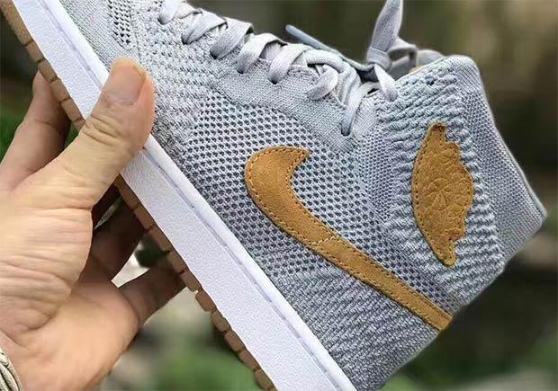 0f90e31669e18f Advertisement. Update  The Air Jordan 1 High Flyknit in Grey Golden Harvest  ...