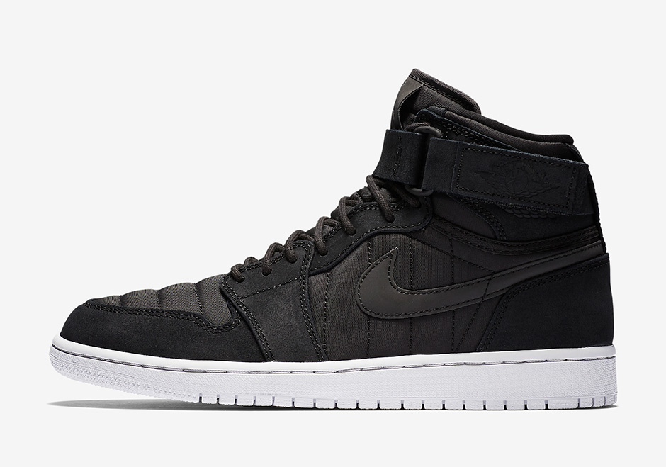 "2f2f62535fa229 Air Jordan 1 High Strap ""Padded Pack"" AVAILABLE ON Nike.com  140. Color   Black Pure Platinum-Anthracite"