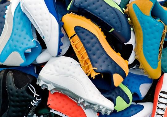 Jordan Brand Debuts New Air Jordan 13 Low PE Cleats For Start Of NFL Season