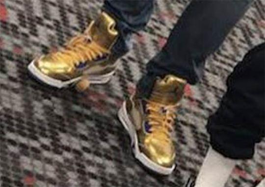 Kawhi Leonard Debuts Air Jordan 5 PE In Gold