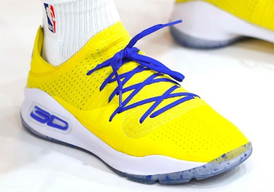 "Steph Curry Debuts UA Curry 4 Low ""Dub Nation"" At NBA Media Day"