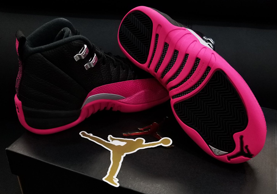 buy online 246b0 ca023 Jordan 12 Black Deadly Pink Release Date 510815-026   SneakerNews.com