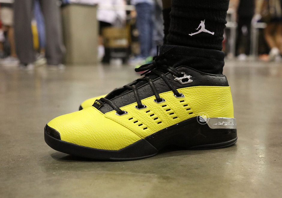 air jordan 17 low yellow heels