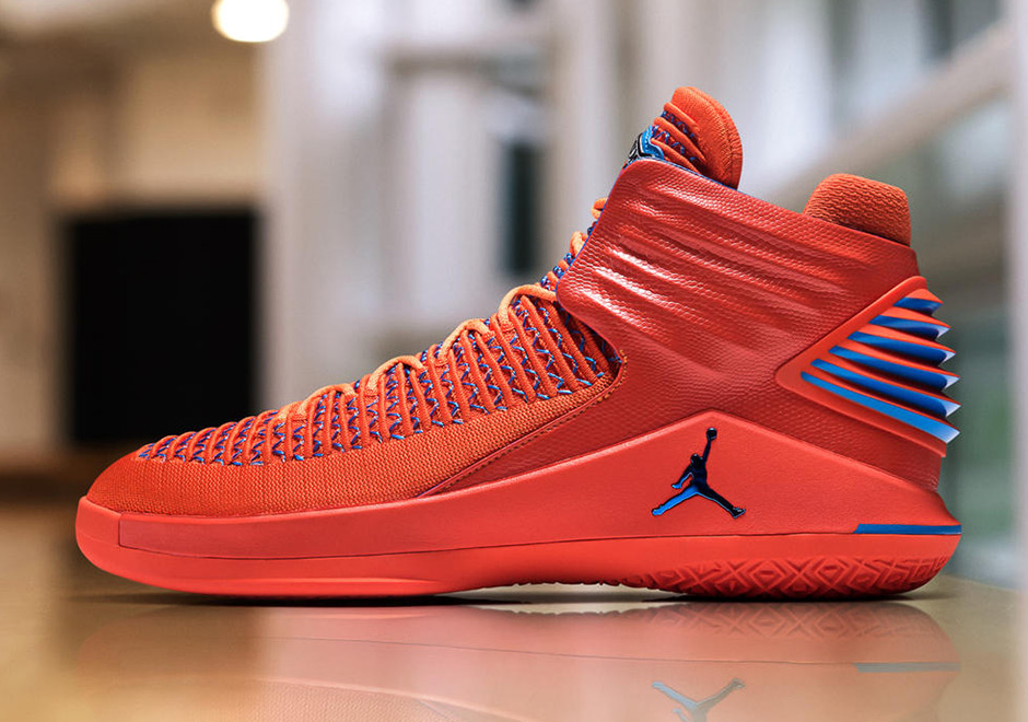 "5441612a068 Russell Westbrook Debuts Air Jordan XXXII ""Creamsicle"" PE On Media Day"
