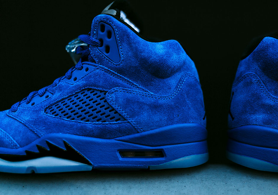 new product 9d801 87725 Air Jordan 5 Blue Suede Release Info + Detailed Photos   SneakerNews.com