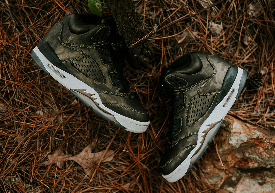 sale retailer 28a44 3928b Jordan 5 Heiress Camo 919710-030   SneakerNews.com
