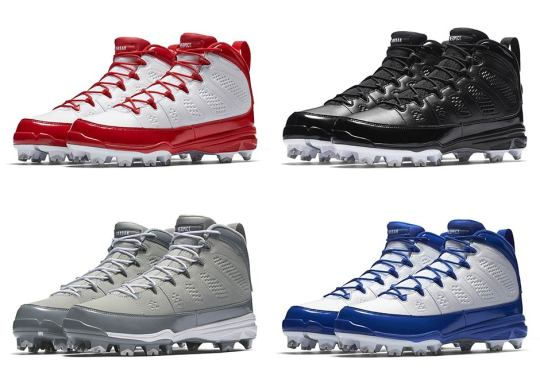 The Air Jordan 9 Retro Releasing As Baseball Cleats In Four Colorways