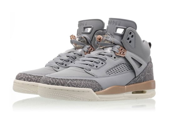 The Jordan Spiz'ike Releases In Wolf Grey And Metallic Bronze For Girls