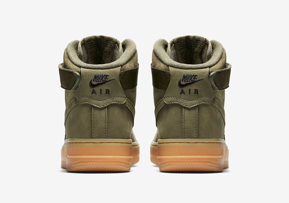 Nike Air Force 1 High Kids Olive Gum 922066 202 Sneakernews Com