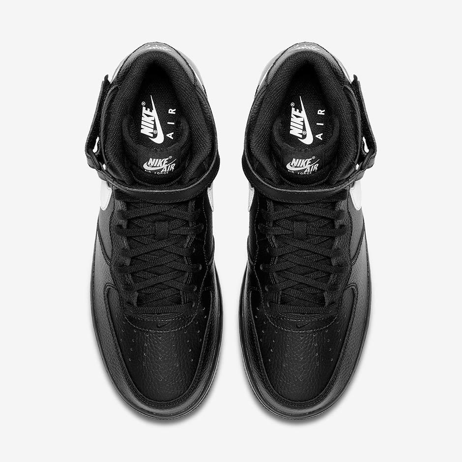 Nike Air Force 1 Mediados De 2017 Blanco Y Negro PVzGCaT5z