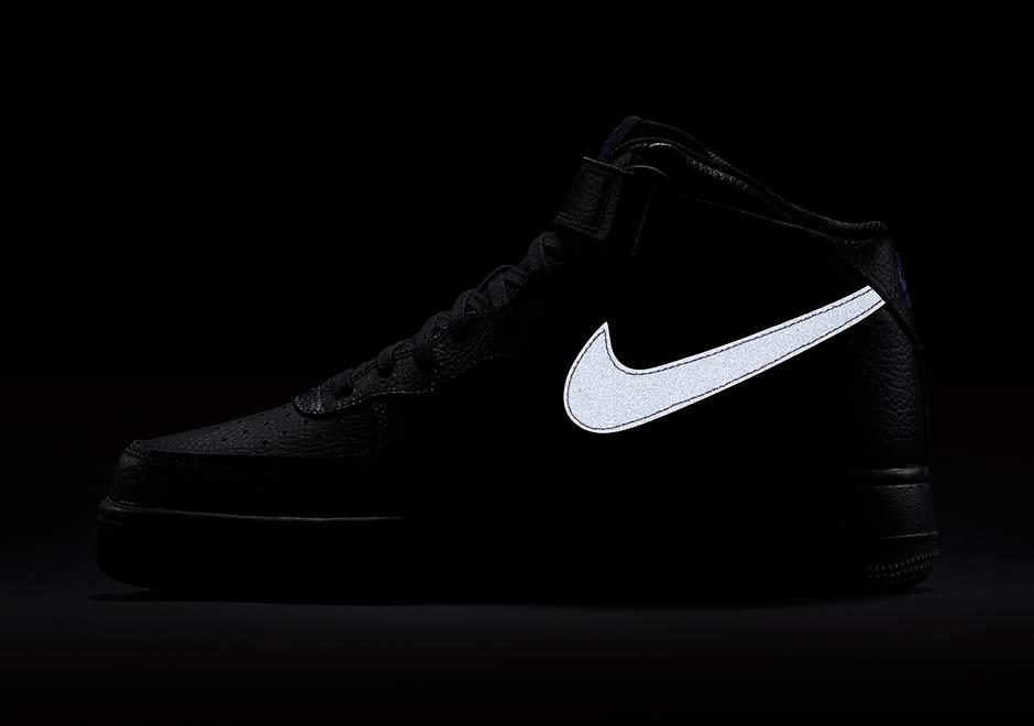 nike air force 1 black leather