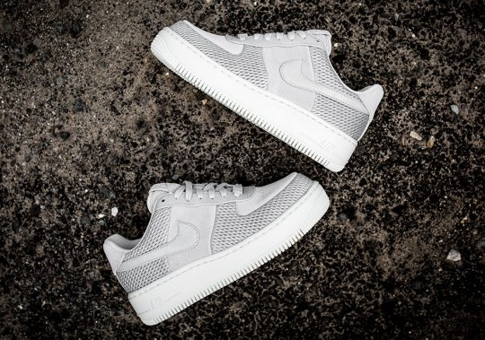 Metallic Mesh Hits The Nike Air Force 1 Upstep For Women
