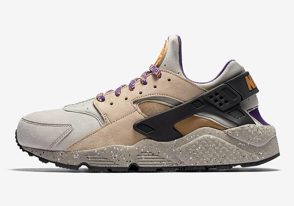 huge discount 2ecd6 5cb86 Nike Air Huarache  110. Color  Linen Golden Beige-Black-Court Purple