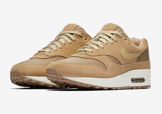 Nike Air Max 1 Premium Combines Tan Suede And Leather