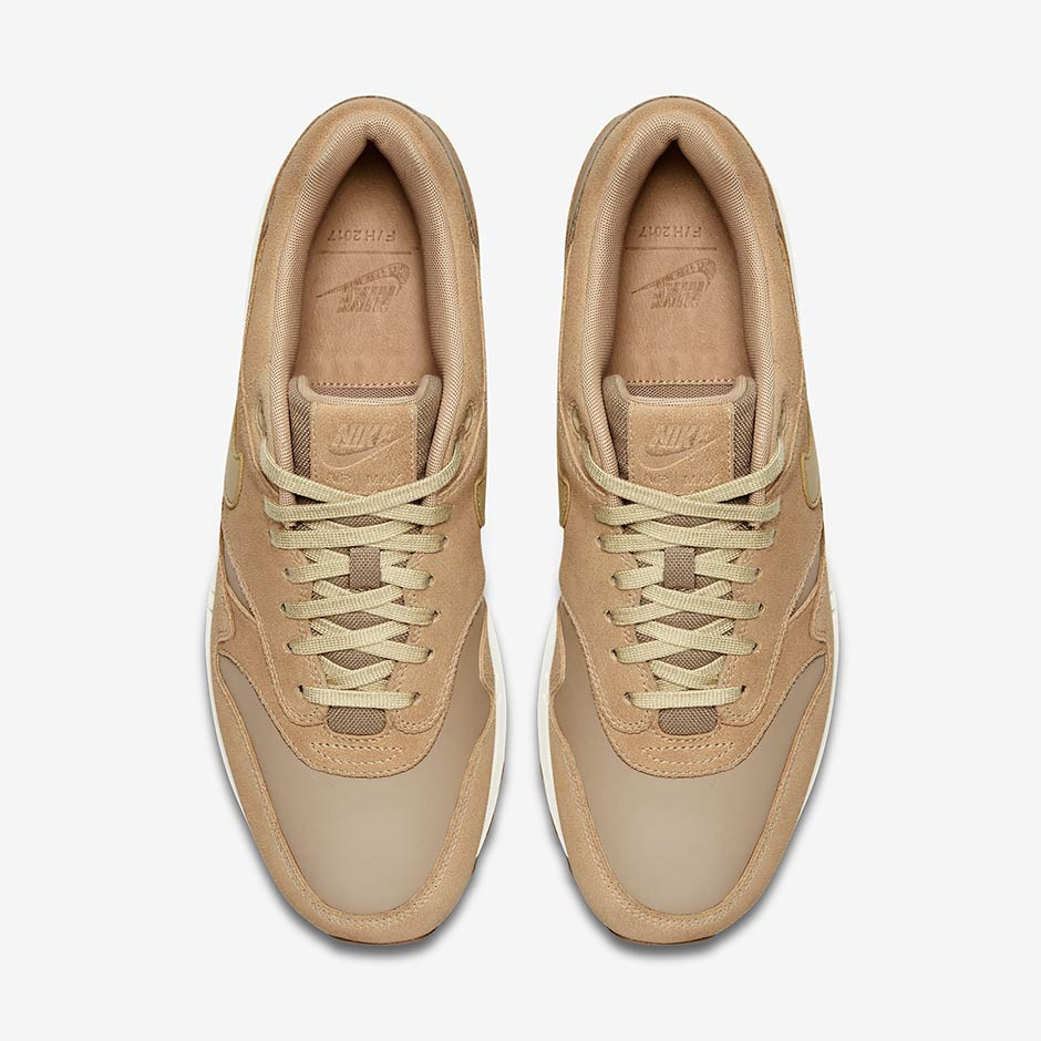 732e8f1e5de5 Nike Air Max 1 Premium Combines Tan Suede And Leather - SneakerNews.com