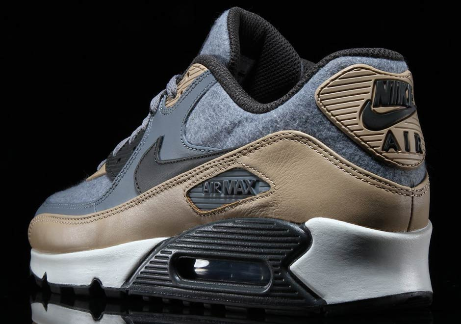 Nike Air Max 90 Premium Release Date: October 16th, 2017 $120. Color: Cool Grey/Deep Pewter-Mushroom-Wolf Grey