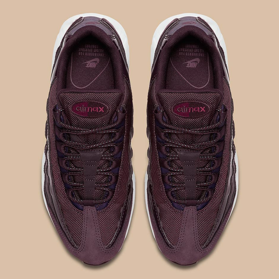 8ff8dc990bf5 Nike Air Max 95  160. Color  Port Wine Bordeaux-White