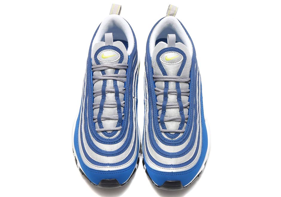 3b01e4ce43ad Nike Air Max 97 OG  160. Color  Atlantic Blue Voltage Yellow Style Code   921826-401