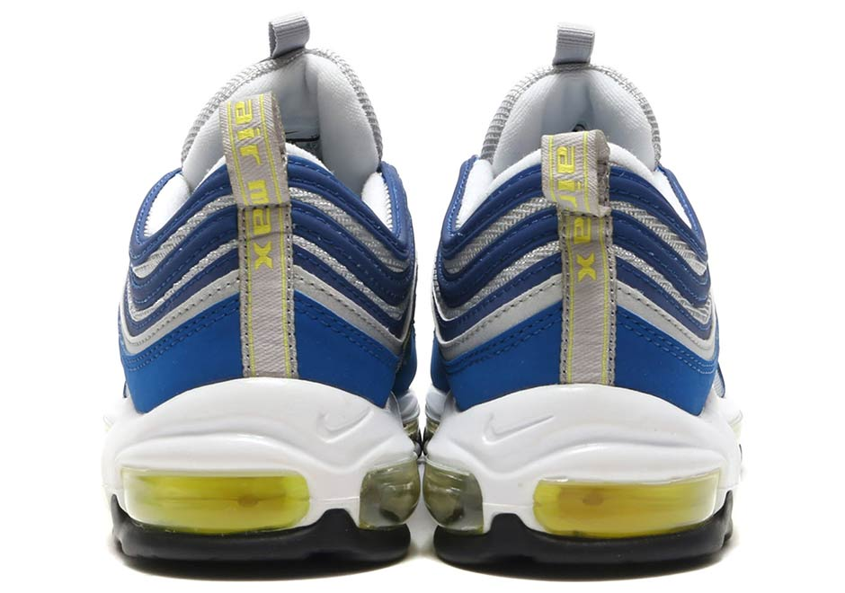 bb505bec6159 Nike Air Max 97 OG  160. Color  Atlantic Blue Voltage Yellow Style Code   921826-401. Photos  atmos