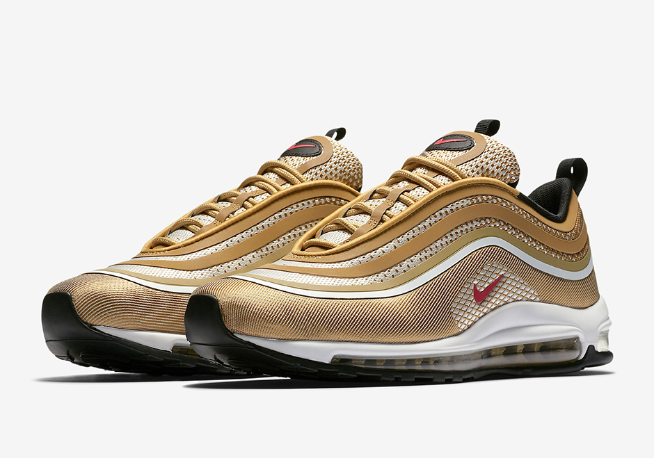 "Updated on October 11th, 2017: The Nike Air Max 97 Ultra '17 ""Metallic Gold""  is available now at select retailers for $160."