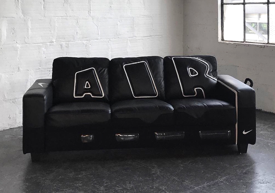 nike air more uptempo couch. Black Bedroom Furniture Sets. Home Design Ideas