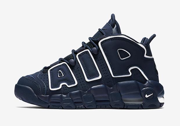 Nike Air More Uptempo Kids Navy 415082 401 Sneakernews Com