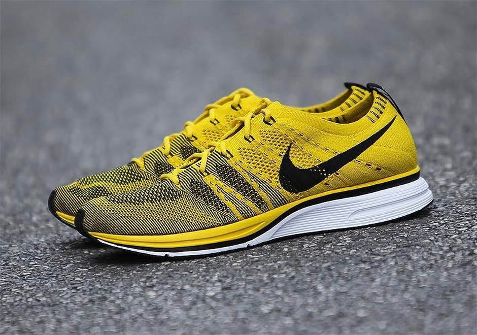 Ah8396 700 Nike Flyknit Trainer Bright Citron Nero