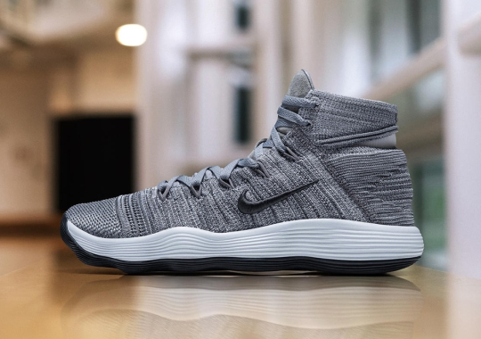 Nike REACT Hyperdunk 2017 Flyknit Releasing In Cool Grey