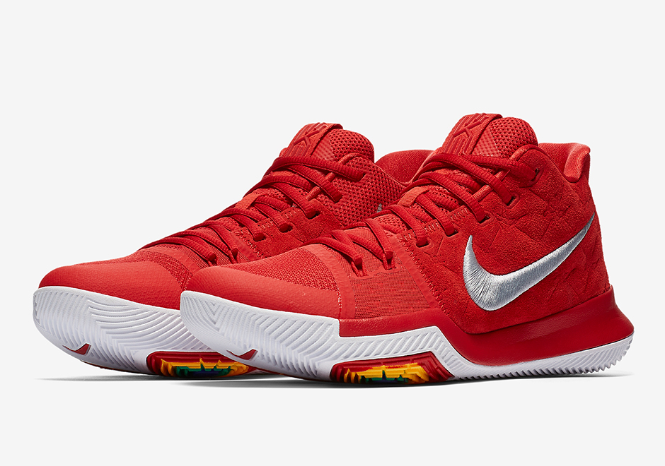 Cheap Nike Kyrie 3 University Red Sued For Sale Discount