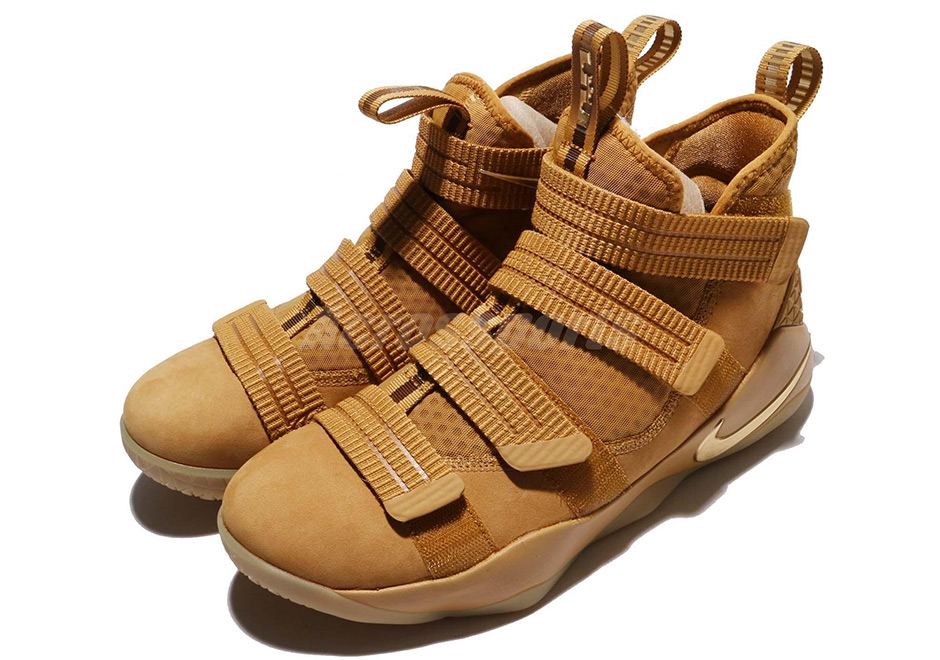 """b13f5fab9a2 Nike LeBron Soldier 11 """"Wheat"""" Release Date  October 7th"""