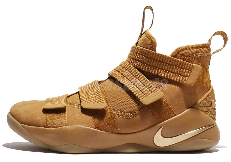 "c54b5554bbe Nike LeBron Soldier 11 ""Wheat"" Release Date  October 7th"