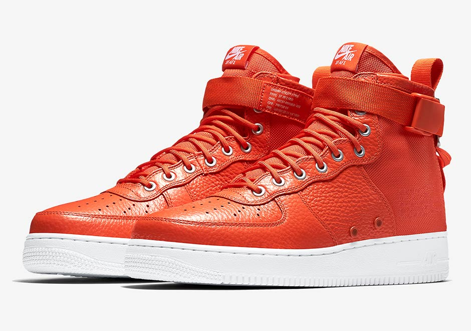 """e143b32e0fb8b6 The Nike SF-AF1 Mid and its military inspired upper has featured orange in  the past including with the upcoming Nike SF-AF1 High """"Desert Ochre"""" slated  to ..."""
