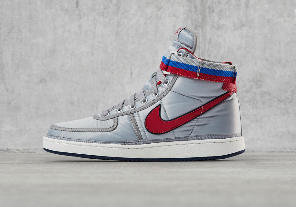 """new product b2dac f7dc0 Update The Nike Vandal High Supreme """"Silver"""" releases on October 7th, 2017  for 90 via Nike SNKRS."""