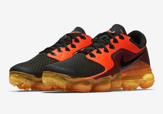 The Nike Vapormax Model With No Flyknit Appears In A Blazing Hot Colorway