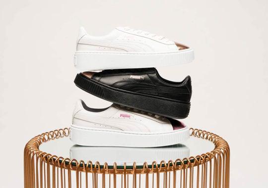 Shiny Metallic Toes Hit The Stylish Puma Platform In Three Colorways