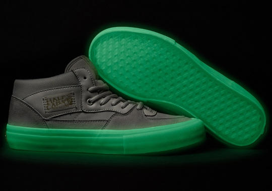 ebd70dda46 The Vans Half Cab Gets Glow In The Dark Sole With Collab By Pyramid Country