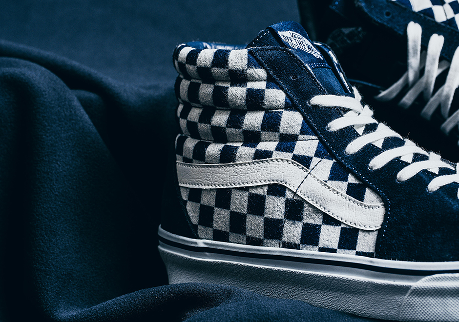 f654d859dc The entire Vans Japan Indigo Checkerboard Pack is hitting select retailers  overseas such as Taiwan s Invincible on Saturday