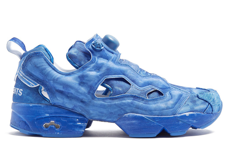 Vetements x Reebok Instapump Fury AVAILABLE ON MatchesFashion.com  655.  Color  Blue. Vetements x Reebok Genetically Modified Pump 5e8a20b68