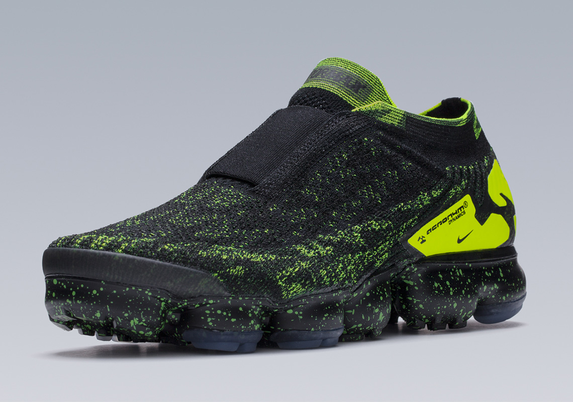 best sneakers 260d3 c43de Acronym x Nike Air VaporMax Moc 2. Release Date  April 26, 2018  220.  Color  Black Volt-Black