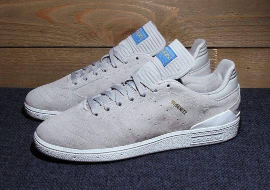The adidas Skateboarding Busenitz RX Arrives In Grey Suede