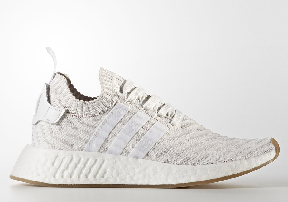 adidas NMD R2 Primeknit W Release Date: October 2017 $170. Color: Running  White/Shocking Pink