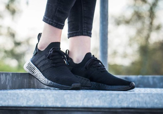 "An On-Foot Look At The adidas NMD R2 ""Triple Black"""