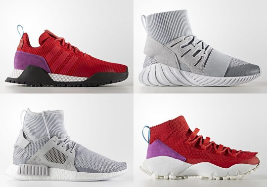 adidas Originals Has An Extensive Winter Sneaker Assortment In Red And Grey Coming Soon