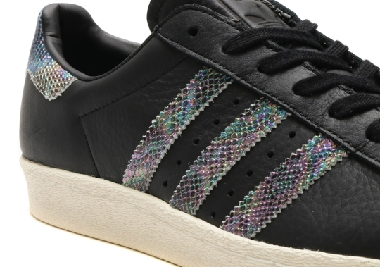 The Best Selling adidas Superstar Gets Iridescent Snakeskin Details